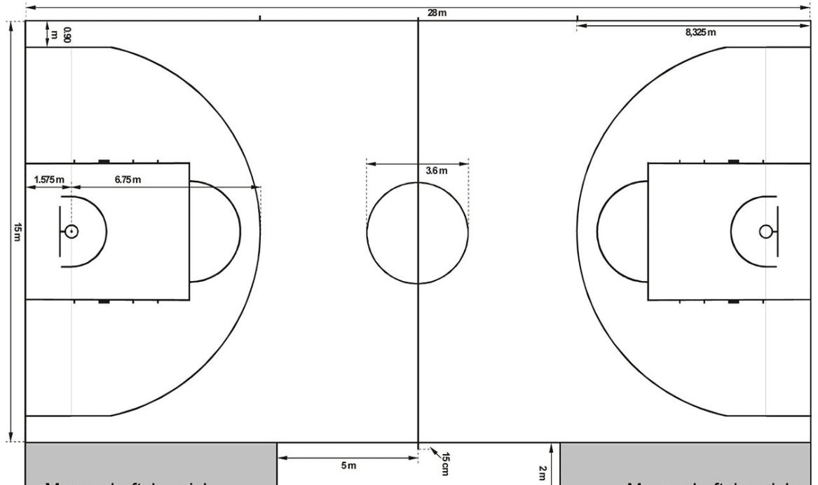 taille lignes basket