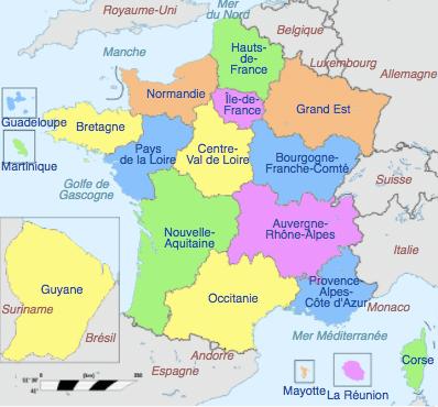 18 regions francaises